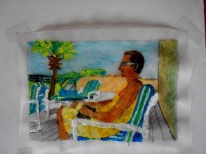 sketchbook: Trilogy Tobias in Florida, Acryl 10 x 16 cmm
