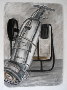 hoover in action, Pastell 85 x 60 cm