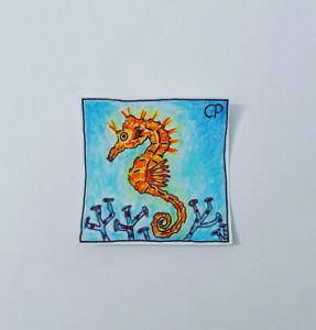 You should not drain oil into the ocean, says the seahorse !! !!