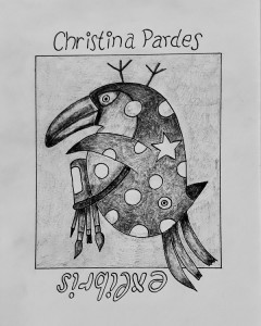 Exlibris: now, I have rotated my Exlibris and a new bird has appeared ;-))